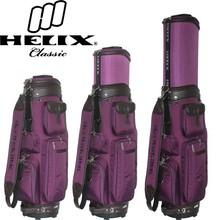 Helix nylon made staff golf bag with wheels/ Nylon golf bag with shoulder strap /traveling golf bags