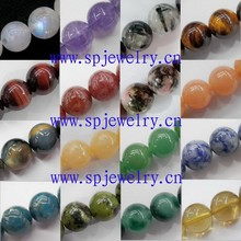 natural stone loose beads, round 4-16mm, 16-inch per strand