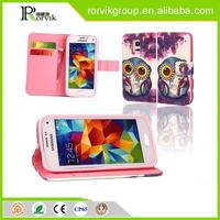animal silicone tpu leather phone case for Samsung Galaxy S5 I9600