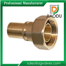 factory direct promotional 22mm npt forged yellow brass color cw617n brass gas female threaded meter union