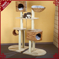 China Wholesale S&D Handmade Pet Toys Products Eco-friendly Rattan Cat Tree
