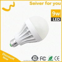 2015 hot sale LED plastic bulbs light 9w b22 e27 zhongshan factory price for family use