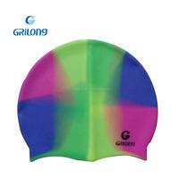 Cheap novelty swim caps Custom silicone Thicken print swim hat