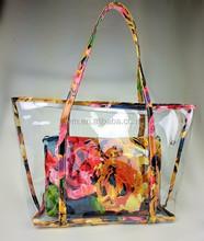 women fashion designer plastic handbag, bag plastic