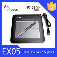 Ugee EX05 Low Price Signature Pad Digital Drawing Tablet 8*6 Inch 2048 Pressure Sensitive