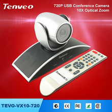 TEVO-VX10-720 10 x Optical Zoom Video Professional Conference auto rotate tracking ip camera dome 2 megapixel ip camera