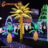 6.0m led yellow palm tree led garden decorative lights