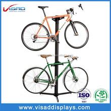 Custom metal floor bicycle display stand