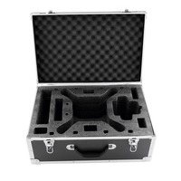 Black Aluminum Case Protective Protector Carry Out Box Suitcase For Phantom 3