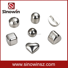 different model and shape stainless steel ice cubes for choose