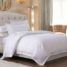 Pure white stripe duvet cover new york/solid color bedding set,hotel style duvet cover