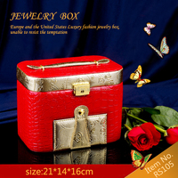 leather jewelry boxes wholesale,Jewelry box and jewelry case,wooden jewelry box RS105