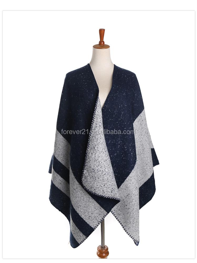 fashion new navy poncho blanket scarf warm
