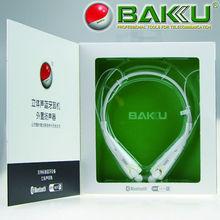 2014 BAKU new fashion neckband wireless stereo bluetooth headset