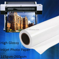 Wide Format Premium RC 260gsm Pigment ink High Glossy Photo Paper