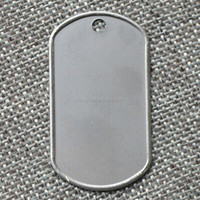 Custom Stainless Steel Metal Blank Military Dog ID Tag