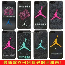 mobile accessories luminous air jordan kobe plastic hard phone case for iphone 4 5s 6 6plus