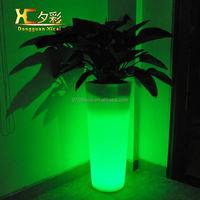Plastic LED Luminous Living Room Vase Chargeable Garden Resturant Decorative Flower Pot