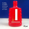 empty 120ml colored red glass wine bottles SLBd78