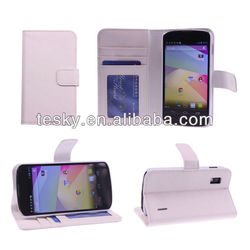 For LG Google Nexus 4 E960 Wallet Stand Leather Case Cover With Slots