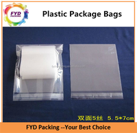 Natural Packaging PE Plastic Shrink Packing Bags With Adhesive Strip