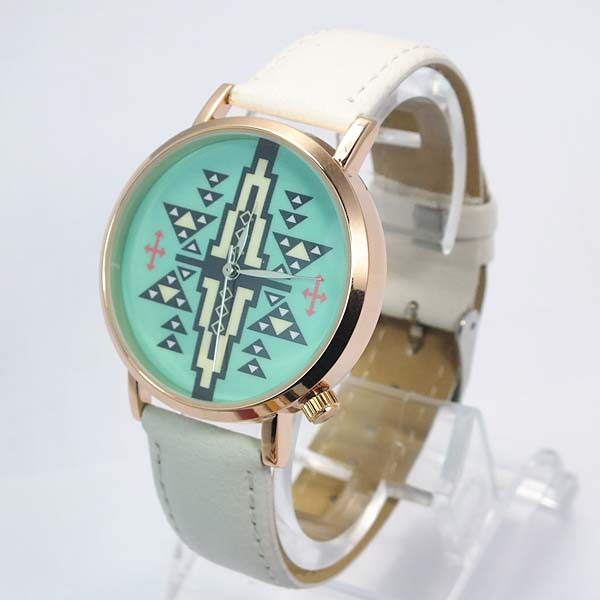Different color leather watch stainless steel back watch luxury wholesale china watch