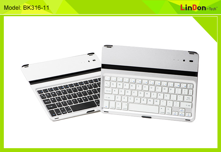 Ultra Thin Aluminium Keyboard Wireless Bluetooth Keyboard Case for iPad Air/iPad 5 BK316-11