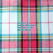 Wholesale plaid organic cotton hemp fabric