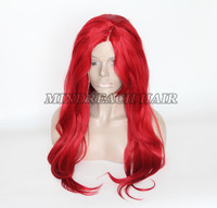 lady's fashion heat resistant synthetic wigs wholesale new popular style female wigs red synthetic wig