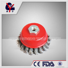 stainless crimped wire cup brush with nut