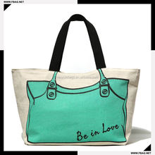 Eco-friendly silk screen printing promotional recyclable cotton shopping bag