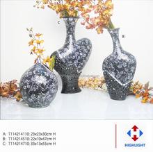 wholesale black glass mosaic vase for home decoration