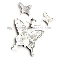China wholesale jewelry settings without stones butterfly jewelry set