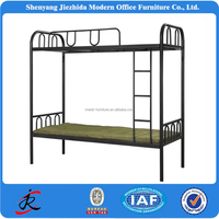 hostel school dormitory bed room furniture high quality cheap metal steel 3 tier bunk bed parts