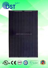 250W 260W 270W 60 cells TUV/MCS/UL/CEC/JET Taiwan 255 watss PV Black Mono Solar Panel Solar Module