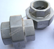 stainless steel pipe fittings union connector made in China with manufacture