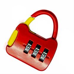 Mini Red 3 Dial Digit Combination Lock Suitcase Luggage Code Password Lock