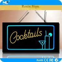 Acrylic color change advertising LED backlit hanging glow light sign boards