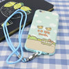 Lovely Soft Mobile Phone Case for iphone6,for iphone 6 plus TPU Case with Neck Strap