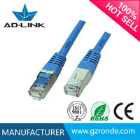 China supplier cat 6 shielded patch cord 0.5m/patch cable 10 m