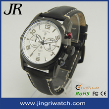 new design 316L stainless stainless steel chronograph 5atm men leather watches
