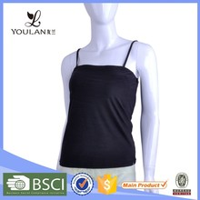 Latest Fitness Sexy Women Padded 95% Cotton 5% Spandex Tank Top