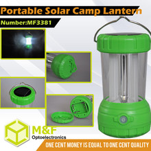SMD led solar camping tent lighting both use dry battery AAA and panel