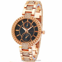 Fashion elegant young lady pearl case jewellery watches