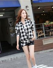 MAIN PRODUCT!! OEM Design women casual check shirt design from China manufacturer
