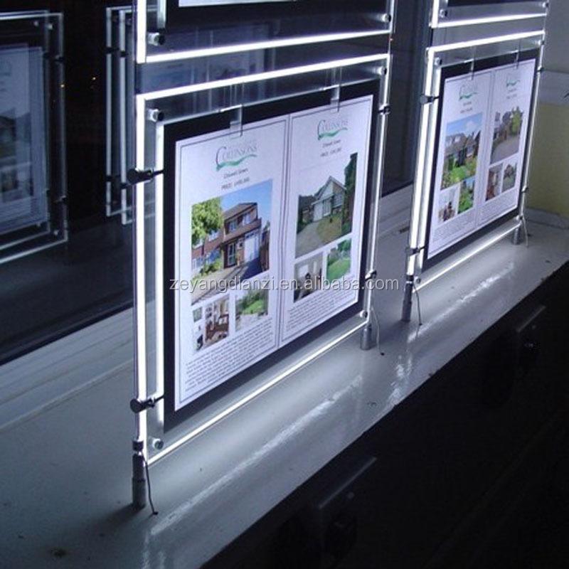2015 illuminated Acrylic Advertising Light Box/LED Poster Frame/LED light frame