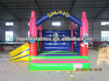 Mini castillo inflable gorila con slide para mercado europeo