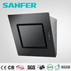 Black tempered glass cover Ceiling-mounted range hood motor