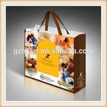 Reinforced Bottom Paper Book Bags with Ribbon Handles