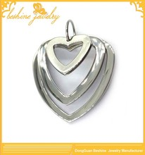 High Polished Double Heart Pendants Meaning